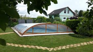 Zastřešení bazénu POOLOR dřevo