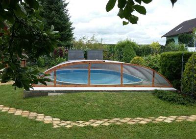 Zastřešení bazénu Poolor 3R - dřevodekor