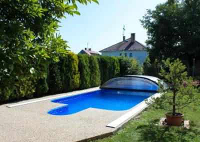 Zastřešení bazénu POOLOR 3R - Antracit