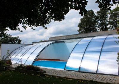 Zastřešení bazénu POOLOR Wall - antracit