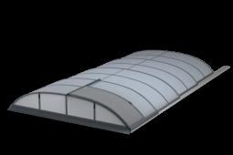 POOLOR 3R moderní tvar zastřešení bazénu