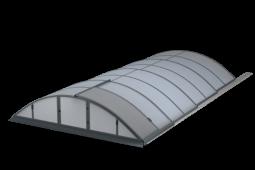 POOLOR Classic - klasický tvar zastřešení bazénu
