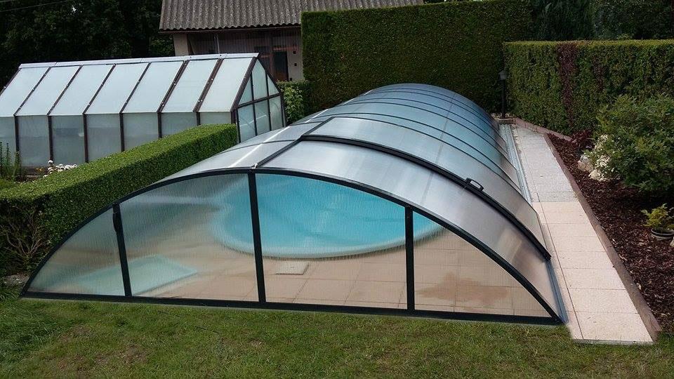 Zastřešení bazénu POOLOR Classic - Antracit