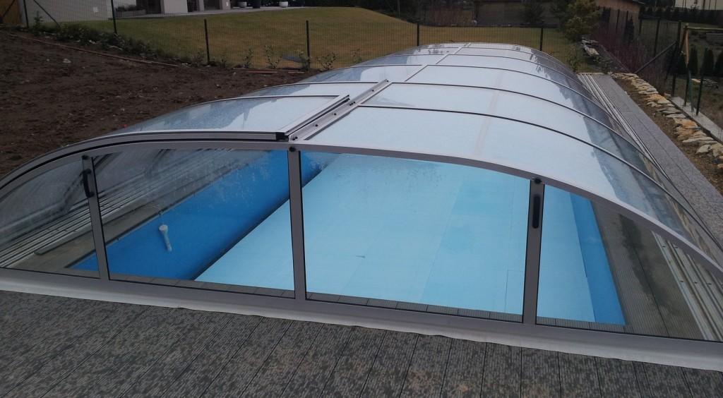 Zastřešení bazénu POOLOR 3R s plným polykarbonátem