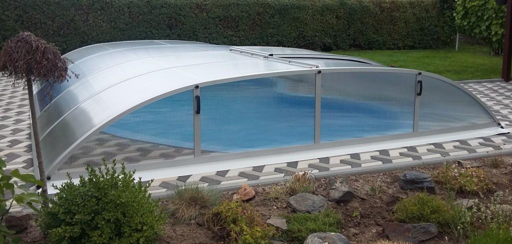 Zastřešení bazénu POOLOR 3R elox
