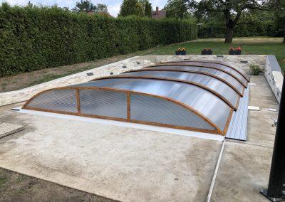 Zastřešení bazénu Poolor 3R dřevodekor
